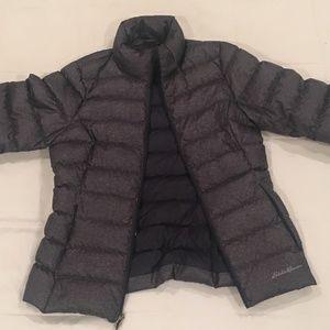 Eddie Bauer Navy puffy jacket